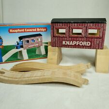Wooden Thomas Train Engine Wooden Railway Track -  Knapford Covered Bridge -USED