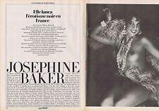 Coupure de presse Clipping 1982 Joséphine Baker  (4 pages)