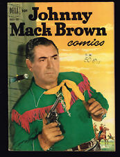 JOHNNY MACK BROWN Dell # 9 1952 Old Stock | 3 or more comics = free ship