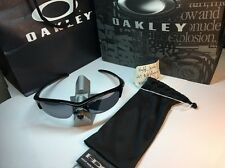 New Rare Vintage Oakley Sunglasses Half Jacket Polished Black Iridium