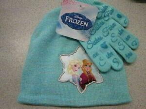 Disney Frozen Elsa & Anna hat & glove set BRAND NEW! SIZE 4-10