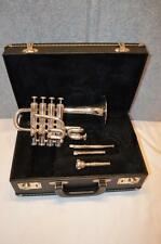 GETZEN 940 ETERNA SERIES Bb/A PICCOLO TRUMPET SILVER - EXCELLENT CONDITION