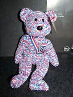 "Ty Beanie Babies Retired 2000 ""USA"" Bear with Error - MWMT"
