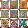 Geometric pattern Cotton Linen Sofa Waist Cushion Cover Pillow Case Home Decor