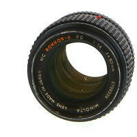 Minolta 50mm F/1.4 Rokkor-X PG MC Mount Manual Focus Lens {55} - AI