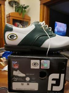 BRAND NWT NFL GREEN BAY PACKERS FOOTJOY MYJOYS GOLF SHOES WOMEN'S STYLE SIZE 10