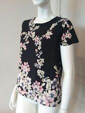 Forever 21 floral short sleeve top blouse sz S NWOT