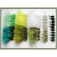 Weighted Trout Flies, 50 Pack, Lures,10 Different Flies, Fishing Flies SF4M