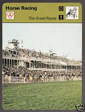 GRAND NATIONAL IN LIVERPOOL Horse Racing Track 1978 SPORTSCASTER CARD 26-04