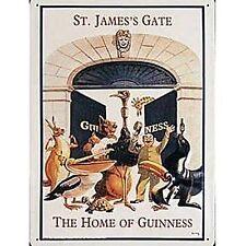 More details for guinness st james gate large embossed steel sign 400mm x 300mm (hi)