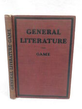 Josiah Bethea Game  GENERAL LITERATURE Myth, Epic, and Drama 1925 HC Illust'd
