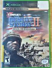Conflict: Desert Storm 11 Back To Baghdad Microsoft XBOX Video Game Used Rated T