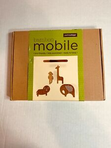 PETITCOLLAGE Bamboo Mobile  Safari Friends -NEW-Eco Friendly-Ready to hang  #9