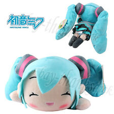 "So Cute! Hatsune Miku Vocaloid 27cm/10.8"" Lying Plush Soft Toy Doll Smile New"