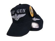 Embroidered Dark Blue Military US Navy Top Gun Baseball Ball Hat Cap