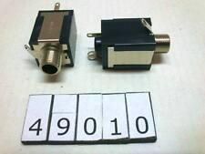 Hosiden DJS6.3 6.3mm stereo mini jack socket ( without washers, nut ) Lot-2pcs