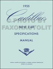 1955 Cadillac Optional Specifications Manual 55 Deville Eldorado Series 60 62 75