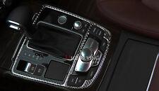 For Audi A7 4G 2010-2016 Carbon Fiber Gear Shift Panel Surround Frame Cover Trim