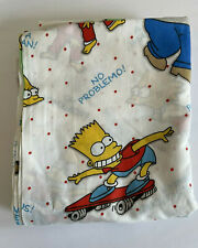 THE SIMPSONS Full Flat Sheet Linens Bedding Bart Homer Marge Family 90s Vintage