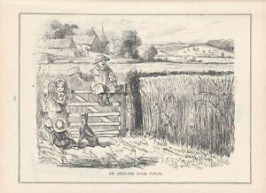 1852 Punch Cartoon English Gold Field