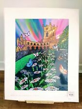 'Colours And Cathedrals At St Davids' Hand finished Print By Burt
