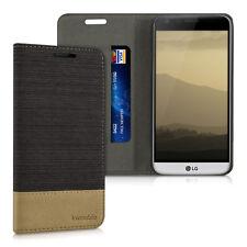 SLL Guscio Flip Per LG g5 Antracite Marrone Custodia Protettiva Cover Case Bookstyle