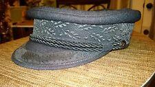 Original HAMBURGER HUMMEL-MUTZE  PRINZ HEINRICH Hat Black  cap 100% WOOL