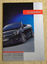 Vauxhall Astra Mk5 Irmscher Brochure 2006 inc Sport Hatch, TwinTop, Hatch ect