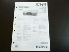 Original Service Manual Schaltplan Sony MDS-S40