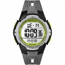 Timex TW5M06700, Men's Marathon Gray Resin Watch, Indiglo, Day/Date, Alarm