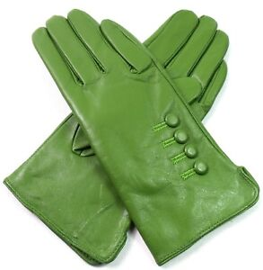 Womens Ladies Premium High Quality Soft Real Leather Gloves Winter Driving Lined