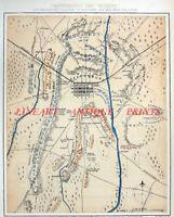 Civil War BATTLE OF GETTYSBURG PENNSYLVANIA MEADE ROBERT E LEE ~ 1877 MAP PLAN