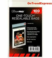 Ultra Pro One Touch Bags Resealable Clear Card Protectors 100ct - Pack of 100