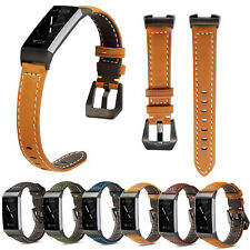 Vintage Genuine Leather Band For Fitbit Charge 3 Smart Wristwatch Strap Bracelet