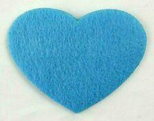 Filz-Applikation zum Aufbügeln Bügelbild 4-139  Herz Hellblau