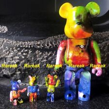Medicom Be@rbrick 2018 Pushead 400% + 100% diversi colori BEARBRICK Set 4pcs