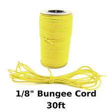 """30ft 1/8"""" Yellow Bungee Cord Marine Grade Heavy Duty Shock Rope Tie Down Stretch"""
