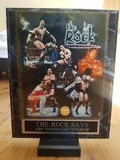 More details for premium the rock dwyane wwf wwe framed high quality wrestling photo poster