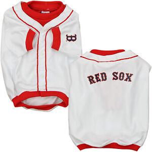 Sporty K9 MLB Boston Red Sox Baseball Dog Jersey, White