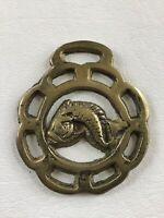 "Serpent 3"" Vintage Horse Brass Harness Medallion Amulet"