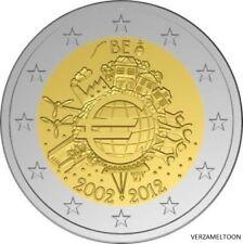 """BELGIE SPECIALE 2 EURO 2012 UNC  """"10 JAAR EURO"""""""