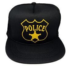 Kids Police Cop Halloween Costume Snapback Mesh Trucker Hat Cap 5-10