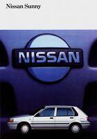 Nissan Sunny Prospekt 1990 2/90 Autoprospekt Broschüre brochure broschyr catalog