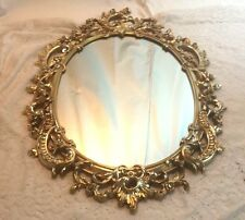 Vintage SYROCO Hollywood Regency Ornate Shabby Floral Chic Wall Mirror 29""