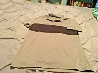 NIKE GOLF DRI-FIT Men's Gray Short Sleeve Polo. Size Large  FREE SHIPPING