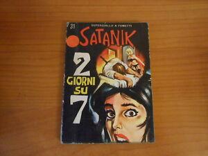 fumetto noir-SATANIK n.31-2 GIORNI SU 7-marzo 1966-fumetto di resa-ed.CORNO