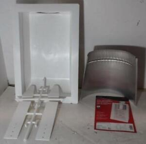 "NEW Deflecto Dryer Vent Box Kit 10-1/4"" x 17-5/16"" x 4"" White"