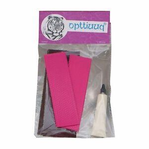 Opttiuuq FrontFoot Cricket Bat Toe Guard Repair Kit Set. Fluo Pink