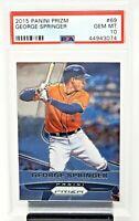 2015 Prizm Houston Astros GEORGE SPRINGER Baseball Card PSA 10 GEM MINT / Pop 3