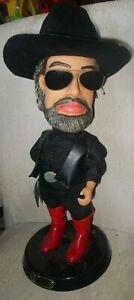 "Hank Williams Jr Bocephus Animated Singing Dancing Collector's Doll Gemmy 20"""